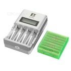 "FB 1.5"" LCD AA / AAA Ni-MH Battery Charger w/ 4 x AA Batteries (1.2V / 2800mAh)"