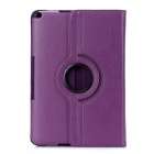 Protective 360 Degree Rotation PU Leather Hard Case for Samsung Galaxy Note 10.1 N8000 - Purple