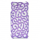 Protective Plastic Chinoiserie Flower Pattern Back Case for Iphone 5 - Purple