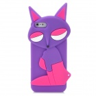Fashion Fox Style Protective Silicone Back Case for Iphone 5 - Purple + Deep Pink