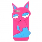 Fashion Fox Style Protective Silicone Back Case for Iphone 5 - Deep Pink + Blue