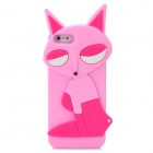 Fashion Fox Style Protective Silicone Back Case for Iphone 5 - Pink + Deep Pink