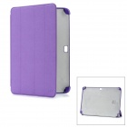 Protective PC + Fiber Material Case for Samsung Galaxy Note 10.1 N8000 - Purple