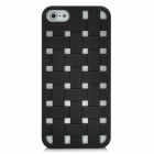 Cool Woven Hollow-out Grid Back Cover Case for Iphone 5 - Black