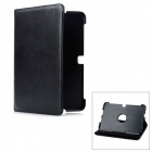 360 Degree Rotation Protective PC + PU Leather Case for Samsung Galaxy Note 10.1 N8000 - Black
