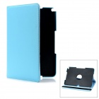 360 Degree Rotation Protective PC + PU Leather Case for Samsung Galaxy Note 10.1 N8000 - Light Blue