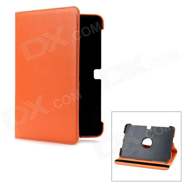 Protective 360 Degree Rotation PU Leather Hard Case for Samsung Galaxy Note 10.1 N8000 - Orange