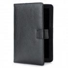 "Lichee Pattern Flip-Open Protective PU Leather Case Cover for 7"" Tablets / PAD / EBook - Black"