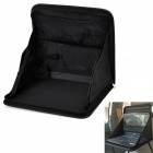 Car Seat Back Folding Storage Organizer Bag Desk - Black