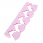 B3802 Esponja bricolaje Nail Art polaco Holder Set - Rosa