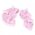B3802 Sponge DIY Nail Polish Art Holder Set - Pink