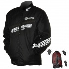 Scoyco JK28-L Multi-Function Motorcycle Riding Protection Jacket Set - Black (Size L)