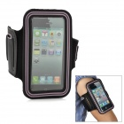 Sports Gym Arm Band Case for iPhone 5 - Black + Pink