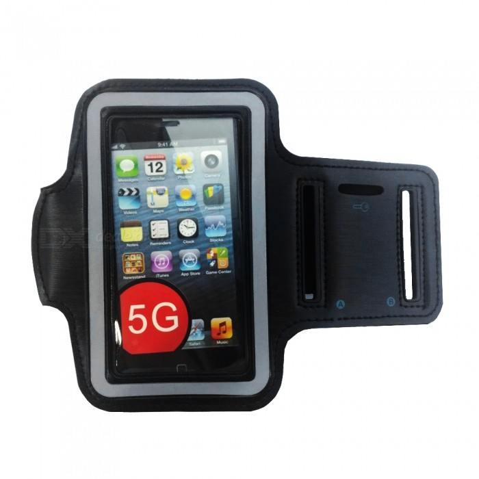 Sports Gym Arm Band Case for IPHONE 5 - BlackArmbands<br>Material:Form  ColorBlackCompatible ModelsIPHONE 5StyleArmbandsPacking List<br>