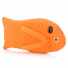 Cute Fish Slipper Style Protective Silicone Back Case for Iphone 4 / 4S - Orange