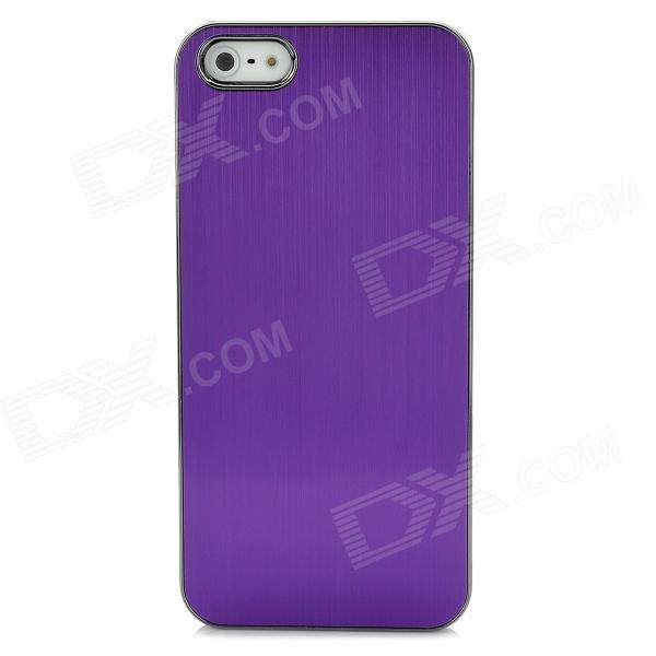Protective Aluminum Alloy Wiredrawing Back Case for Iphone 5 - Purple