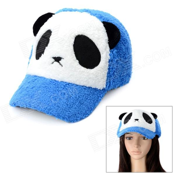 Cute Panda Style Baseball Hat Cap - White + Black + Blue чехол для карточек cute panda дк2017 117