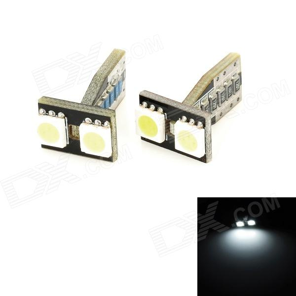 T10 3W 32lm 2-SMD 5050 luz branca do diodo emissor de luz despeja as lâmpadas do carro (2 PCS / 12V)