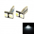 T10 3W 32lm 2-SMD 5050 LED White Light Decode Car Clearance Lamps (2 PCS / 12V)