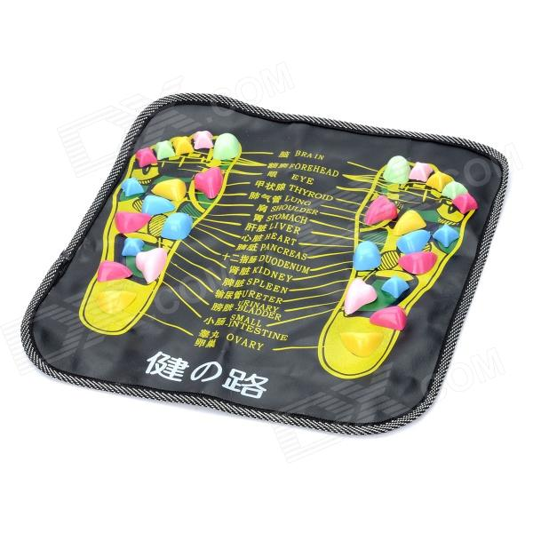 Saudável Foot Care Pad esteira de massagem - Preto