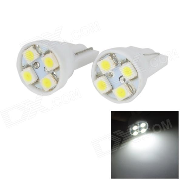T10 1W 28lm 4-SMD 1210 LED White Light Car License Plate Lamp (12V / 2 PCS)