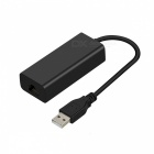 USB 2.0 to 10/100Mbps RJ45 LAN Ethernet Network Adapter - Black