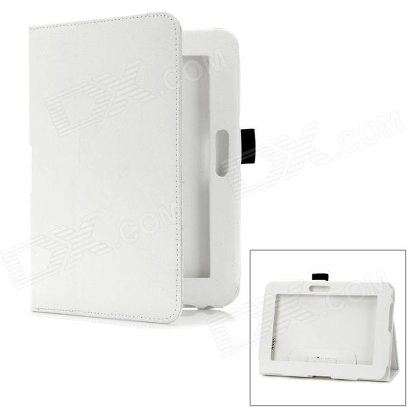 Protective PU Ledertasche für Amazon Kindle Fire 7 Tablet - White