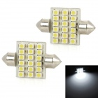 Festoon 36mm 1.8W 180lm 18-SMD 1210 LED White Light Car Reading Lamp (2 PCS / 12V)