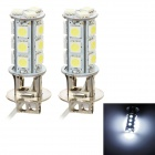 H3 5W 215lm 18-SMD 5050 LED White Light Car Nebel / Day Time Running / Bremse Lampe (2 PCS / 12V)