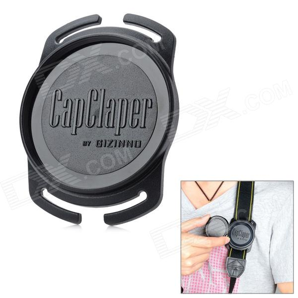 GIZINNO 58mm CapClaper Lens Cap Keeper Holder for Camera - Black bullet camera tube camera headset holder with varied size in diameter