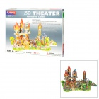 Fairy Tale Magic Castle Style DIY 3D Foam Jigsaw Puzzle - Multicolored