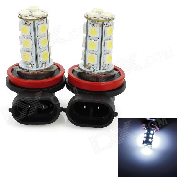 H11 5W 215lm 18-SMD 5050 LED White Light Car Fog / Day Time Running / Brake Lamp (2 PCS / 12V) 3w 800ml 6000k white cob led car fog light daytime running lamp black transparent 2 pcs