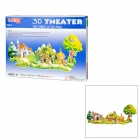 Fairy Tale Three Little Pigs Style DIY 3D Foam Jigsaw Puzzle - Multicolored