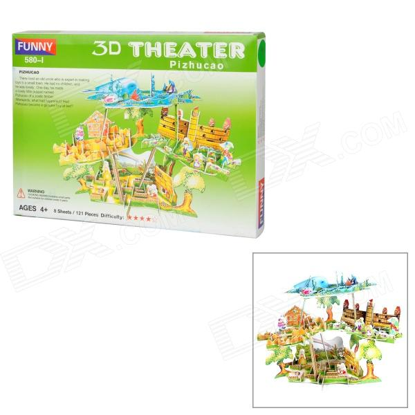 Fairy Tale Pinocchio Style DIY 3D Foam Jigsaw Puzzle - Multicolored alabasta cute blinking wink glitter eyes