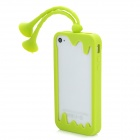 C.Two Grasshopper Silicone Bumper Frame w/ Suction Cup Antennas for Iphone 4 / 4S - Sulfur Yellow
