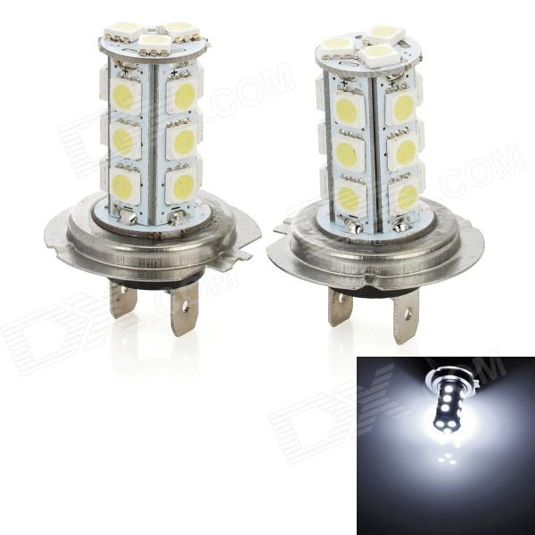 H7 5W 215lm 18-SMD 5050 LED White Light Car Fog / Day Time Running / Brake Lamp (2 PCS / 12V) автомобильный держатель acme с модулем nfc черный