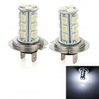 H7 5W 215lm 18-SMD 5050 LED White Light Car Fog / Day Time Running / Brake Lamp (2 PCS / 12V)