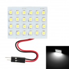 T10 / BA9S / Festoon 24~34mm 3W 168lm 24-SMD 1210 LED White Light Car Reading / Roof Lamp (12V)