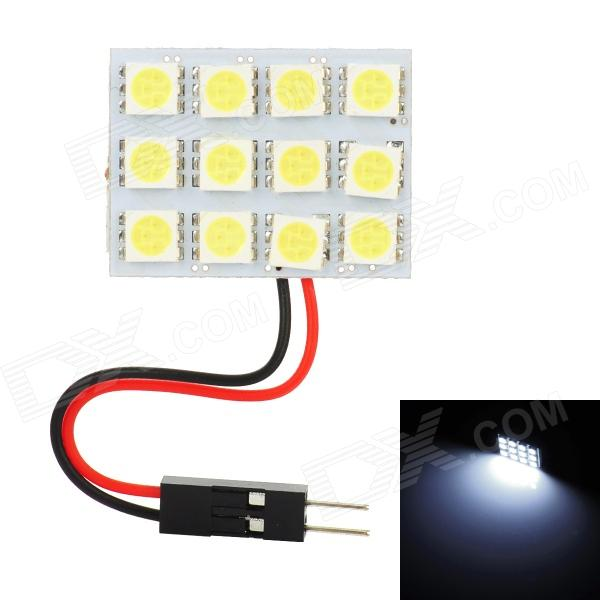 T10 / BA9S / Festoon 26~34mm 3.6W 145lm 12-SMD 5050 LED White Light Car Reading / Roof Lamp (12V) lx 3w 250lm 6500k white light 5050 smd led car reading lamp w lens electrodeless input 12 13 6v
