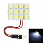 T10 / BA9S / Festoon 26~34mm 3.6W 145lm 12-SMD 5050 LED White Light Car Reading / Roof Lamp (12V)