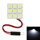 T10 / BA9S / Festoon 26~34mm 2.7W 108lm 9-SMD 5050 LED White Light Car Reading / Roof Lamp (12V)