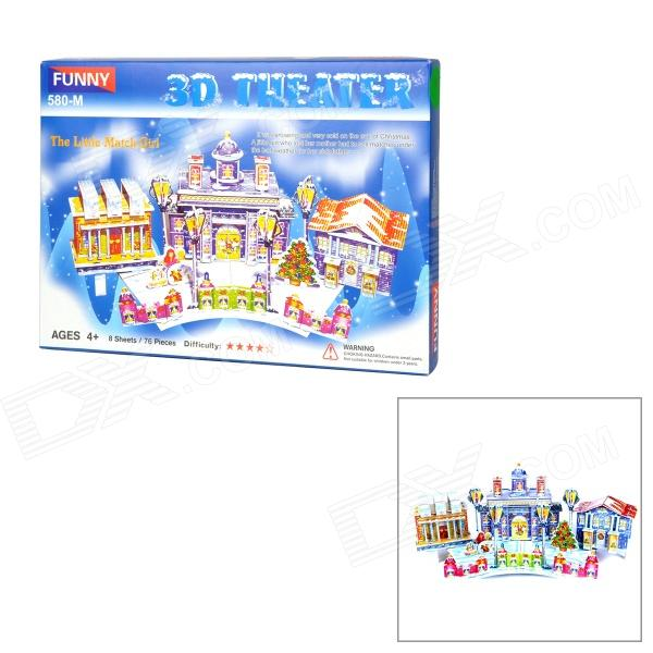 Fairy Tale The Little Match Girl Style DIY 3D Foam Jigsaw Puzzle - Multicolored