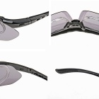 Panlees sp006 Outdoor Riding Driving Eye Protection Sunglasses Goggles w/ 5 Pair Lens - Black Frame