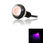 3W 80lm LED Pink Light Eagle Eye Car Decoration / Backup Lamp (DC 12V)