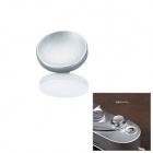 CAM9016 Copper Camera Round Solid Cupped Shutter Button - Silver