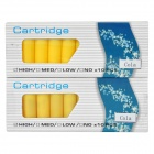 Electronic Cigarette No Nicotine Cola Flavor Cartridge Refills - Yellow (2 x 10 PCS)