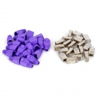 Cat.5e RJ45 Network Cable Connectors + Protective Purple Cap Heads Set (20 PCS)