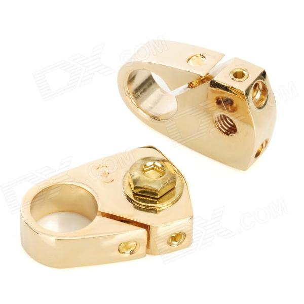 LeiGe LGB-49 Car Battery Terminal Clamp - Golden (2 PCS)