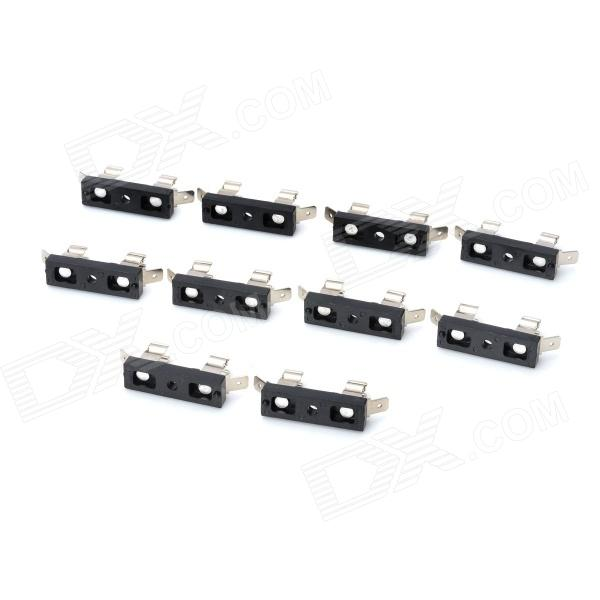 DIY Festoon Socket Bulb Connectors - Black (10 PCS) diy h1 socket bulb connectors green 10 pcs