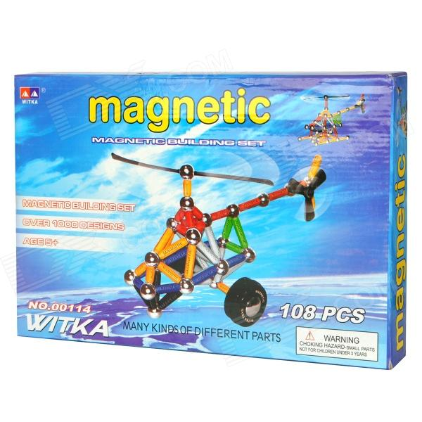 Educational Toy WITKA Magnetic Bar Building Construction Set - Multi-Colored